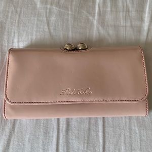 Ted Baker Light Pink Patent Leather Wallet